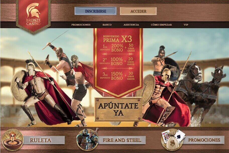 bronze casino bono bienvenida