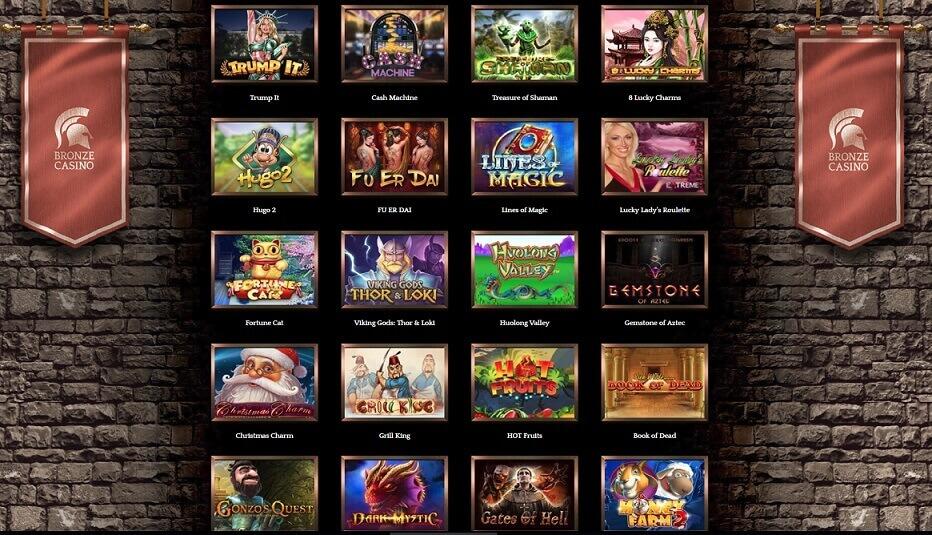 bronze casino juegos casino en vivo