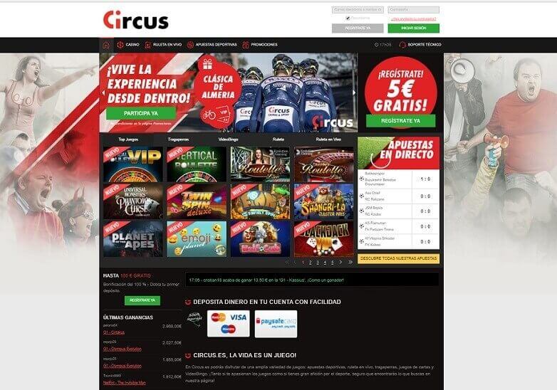 circus bono bienvenida
