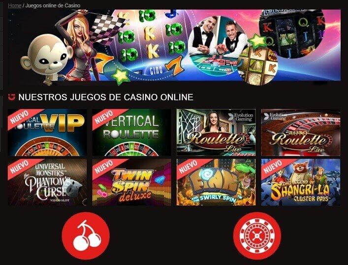 Circus juegos casino en vivo