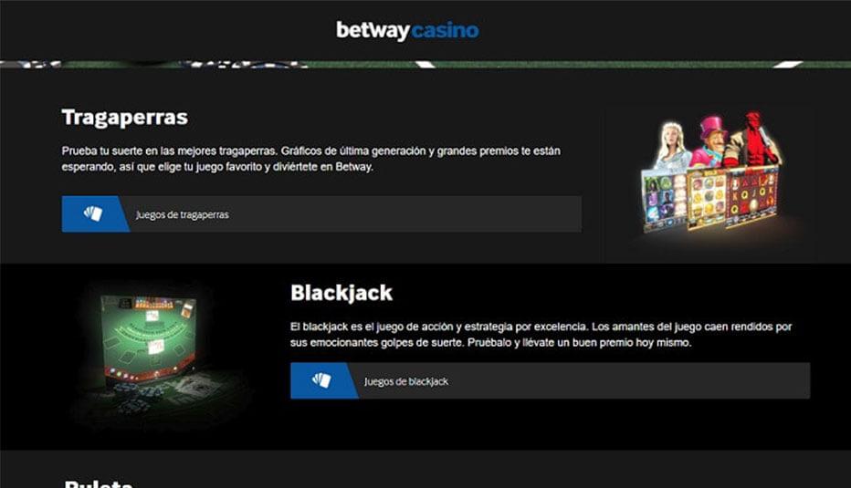 betway juegos