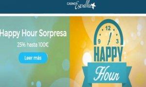 Happy Hour por depósitos en Casino Estrella de hasta 25% por 100 euros