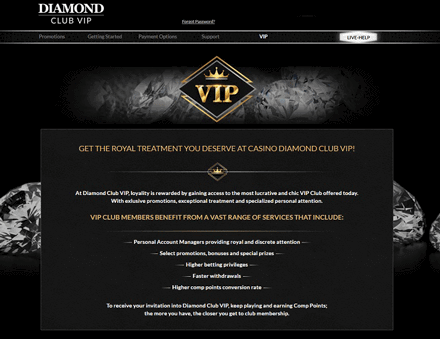 diamond club vip vip