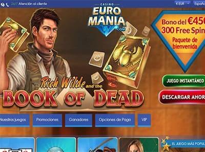 euromania casino bono bienvenida