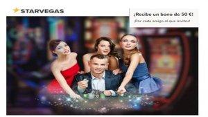 Casino Starvegas entrega un bono por referir a un amigo