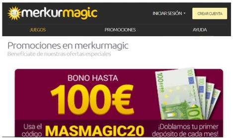 Merkurmagic bono de hasta 100 euros promocionales