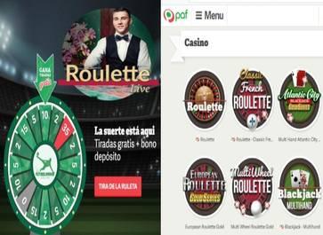 Apuesta segura en Casino Paf retorna 20 euros por depósitos de 30 euros
