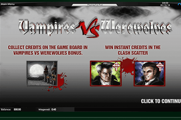 slot Vampires vs Werewolves