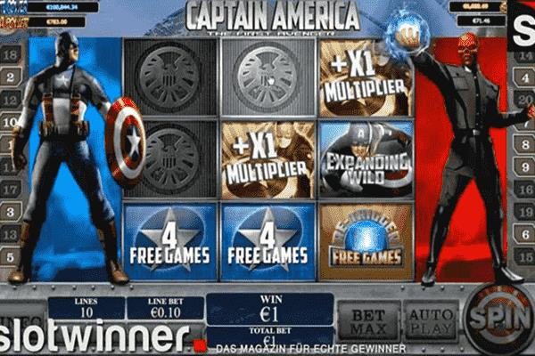 tragaperras Captain America