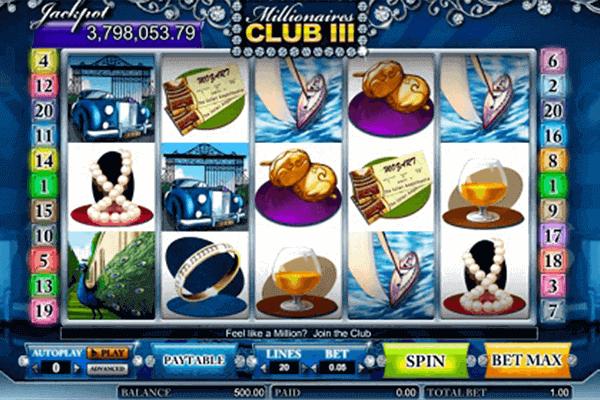 Millonaire´s Club 3 tragamonedas
